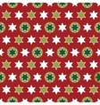 Christmas seamless wrapping paper - repeating vector image vector image