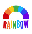 colorful rainbow colored abstract symbol vector image