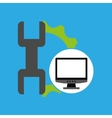 computer web development support vector image