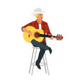 country style singer with guitar vector image