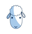 cute sheep manger character image vector image vector image
