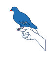 dove in hand peace liberty concept icon vector image