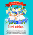 easter eggs and bunny greeting poster vector image vector image
