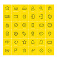 ecommerce icons on yellow background vector image vector image