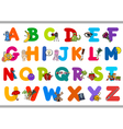 educational alphabet for children vector image vector image