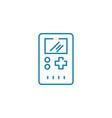 electronic tetris linear icon concept electronic vector image