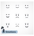 Faces emotions vector image vector image
