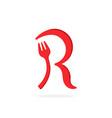 fork logo letter r vector image