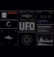 futuristic ufo display vector image vector image