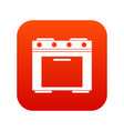 gas stove icon digital red vector image vector image