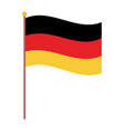 germany flag national isolated icon over white vector image