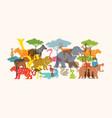group wild animals zoo vector image vector image
