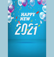 happy new 2021 year card vector image