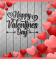happy valentines day with red balloons heart vector image