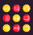home entertainment system icons set vector image