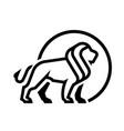 lion logo emblem monochrome logo vector image