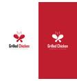 logo grilled chicken restaurant vector image vector image