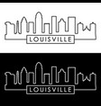 louisville skyline linear style editable file vector image vector image