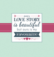 love story vector image vector image