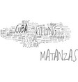 matanzas word cloud concept vector image