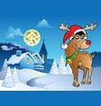 merry christmas theme 5 vector image