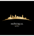 Montreal Quebec Canada city skyline silhouette vector image vector image