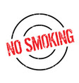 no smoking rubber stamp vector image vector image