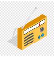 orange retro radio receiver isometric icon vector image vector image