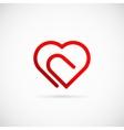Paperclip Heart Concept Symbol Icon or Logo vector image vector image