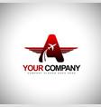 Plane Logo design Concept vector image vector image