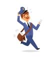 Postman character vector image vector image