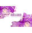 purple and pink shades watercolor background ink vector image