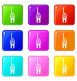 radio transmitter icons 9 set vector image vector image