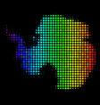 rainbow colored dot antarctica map vector image vector image