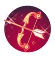 sagittarius sign vector image vector image