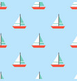 sailboat seamless pattern for use as wrapping vector image vector image