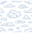 seamless pattern with fluffy clouds or cumulus vector image