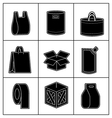 set package icons vector image vector image