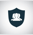 shield people icon for web and ui on white vector image vector image