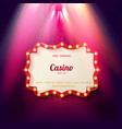 shining retro light banner vector image vector image