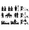 sick illness and injury treatment medication vector image
