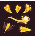 Stars burst cartoon elements on dark vector image vector image