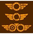 Steam punk emblem set vector image vector image