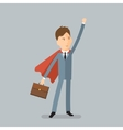 Super Businessman Concept of success vector image vector image