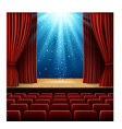 theatre scene with magic lights vector image