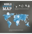 Three dimensional polygonal world map and vector image