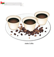 Traditional Arabic Coffee Popular Dink in Oman vector image vector image