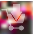 trolley icon on blurred background vector image