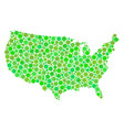 usa map composition of dots vector image