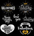 valentines day badges set vector image